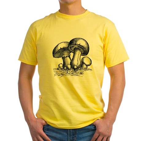 Mushrooms Yellow T-Shirt