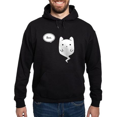 Boo the Ghost Cat Hoodie (dark)