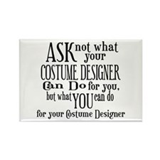Ask Not Costumer Rectangle Magnet