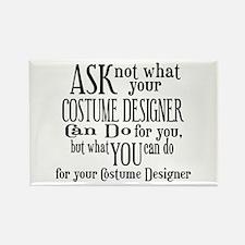 Ask Not Costumer Rectangle Magnet