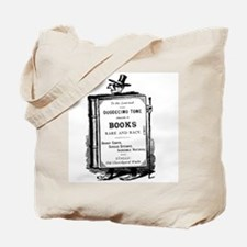 Book Man w/Hat Tote Bag