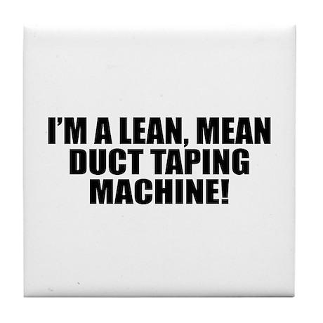 Duct Tape Machine Tile Coaster