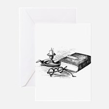 Glasses, book and candle Greeting Cards (Pk of 20)