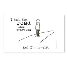 Road Less Traveled Rectangle Decal