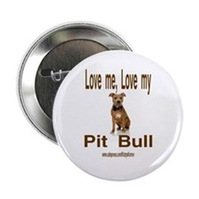 """PIT BULL 2.25"""" Button"""