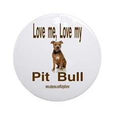 PIT BULL Ornament (Round)