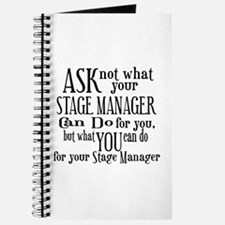 Ask Not Stage Manager Journal