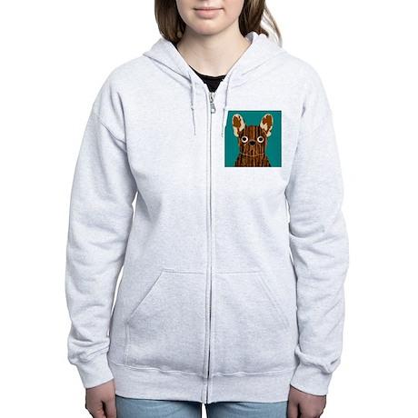Frenchy (Brindle) Women's Zip Hoodie