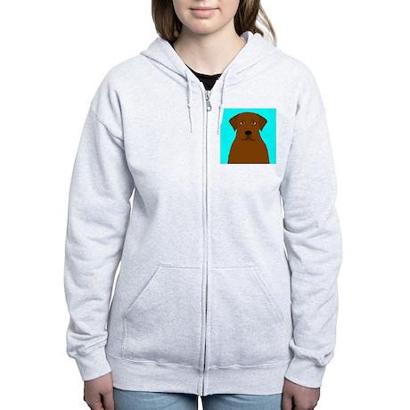 Chocolate Lab Women's Zip Hoodie