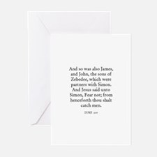 LUKE  5:10 Greeting Cards (Pk of 10)