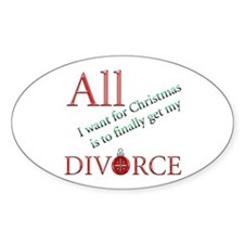 Christmas Divorce Oval Decal