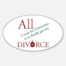 Christmas Divorce Oval Decal
