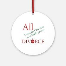 Christmas Divorce Ornament (Round)