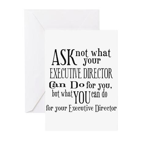 Ask Not Executive Director Greeting Cards (Pk of 1