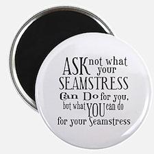 Ask Not Seamstress Magnet