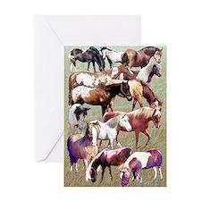 Ponies Greeting Card