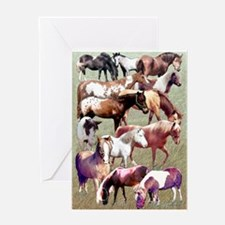 Ponies Greeting Card