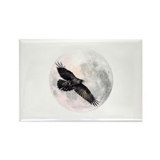 Flying Crow Rectangle Magnet