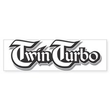 Twin Turbo Bumper Bumper Sticker