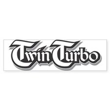Twin Turbo Bumper Car Sticker
