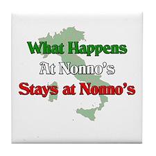 What Happens at Nonno's Stays at Nonno's Tile Coas