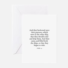 LUKE  5:7 Greeting Cards (Pk of 10)