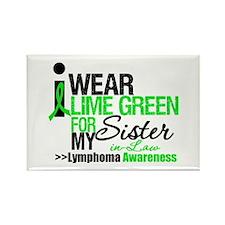 I Wear Lime Green SIL Rectangle Magnet