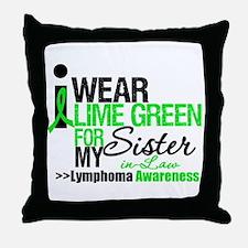 I Wear Lime Green SIL Throw Pillow