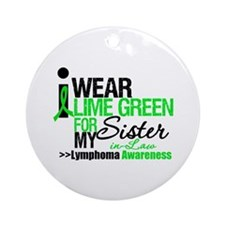 I Wear Lime Green SIL Ornament (Round)