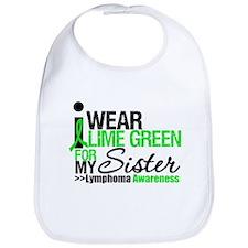 I Wear Lime Green For Sister Bib