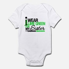 I Wear Lime Green For Sister Infant Bodysuit