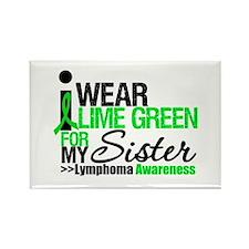 I Wear Lime Green For Sister Rectangle Magnet