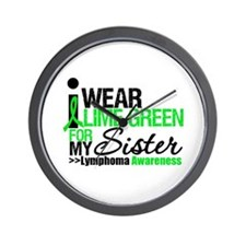 I Wear Lime Green For Sister Wall Clock