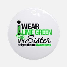 I Wear Lime Green For Sister Ornament (Round)