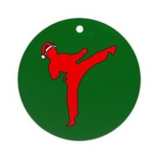 Christmas Martial Arts Ornament (Round)