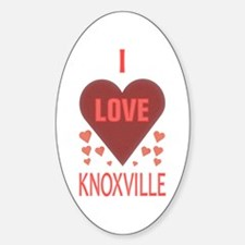 I Love Knoxville Oval Decal