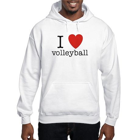 I Heart Volleyball Hooded Sweatshirt