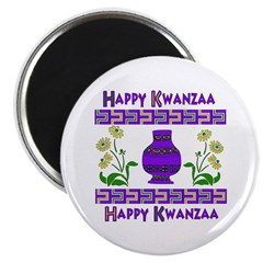 Happy Kwanzaa Vase Magnet