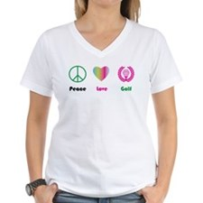 Peace, Love, Golf- Shirt