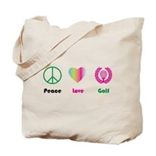 Peace, Love, Golf- Tote Bag