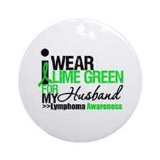 I Wear Lime Green For My Husband Ornament (Round)
