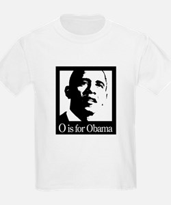 O is for Obama T-Shirt (white,grey)