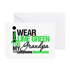 I Wear Lime Green Grandpa Greeting Cards (Pk of 10