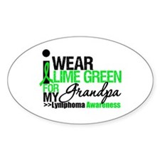 I Wear Lime Green Grandpa Oval Decal