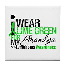 I Wear Lime Green Grandpa Tile Coaster