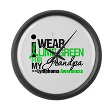 I Wear Lime Green Grandpa Large Wall Clock