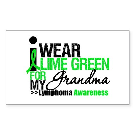 I Wear Lime Green Grandma Rectangle Sticker
