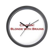 Blonde With Brains Wall Clock