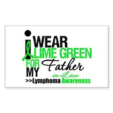 I Wear Lime Green FIL Rectangle Decal