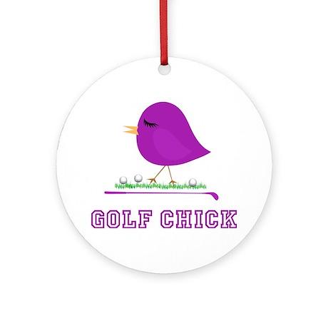 Purple Golf Chick - Ornament (Round)